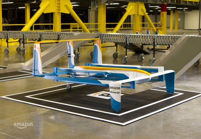 Джереми Кларксон представил новый прототип дрона доставки Amazon из проекта Prime Air