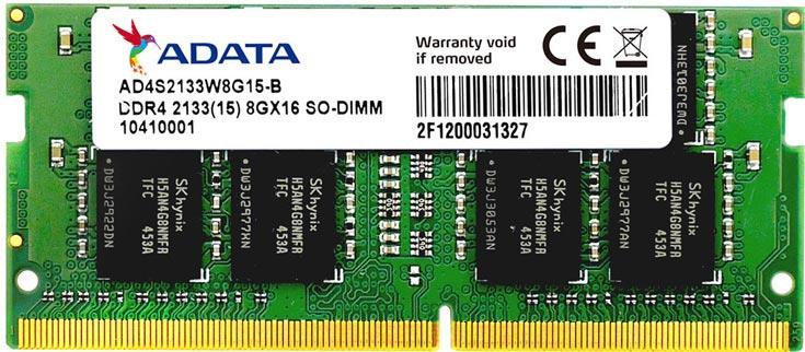 Компания Adata представила модули памяти Premier DDR4-2133 SO-DIMM