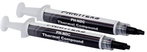 Упаковка термопасты Phanteks PH-NDC стоимостью 0,9 евро заключает двум порции в соответствии с 0 г на шприцах вместе с колпачками