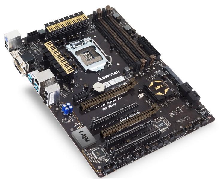 Системная плата Biostar Hi-Fi Z170Z5 располагает только четырьмя портами SATA