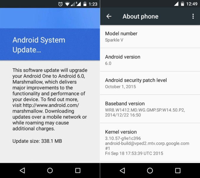���� ����� ����������� ��������� Android One �������� ���������� �� Android 6.0