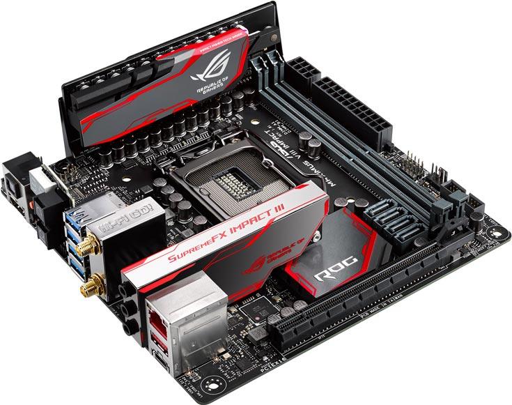 Основой платы Asus ROG Maximus VIII Impact служит набор системной логики Intel Z170 Express
