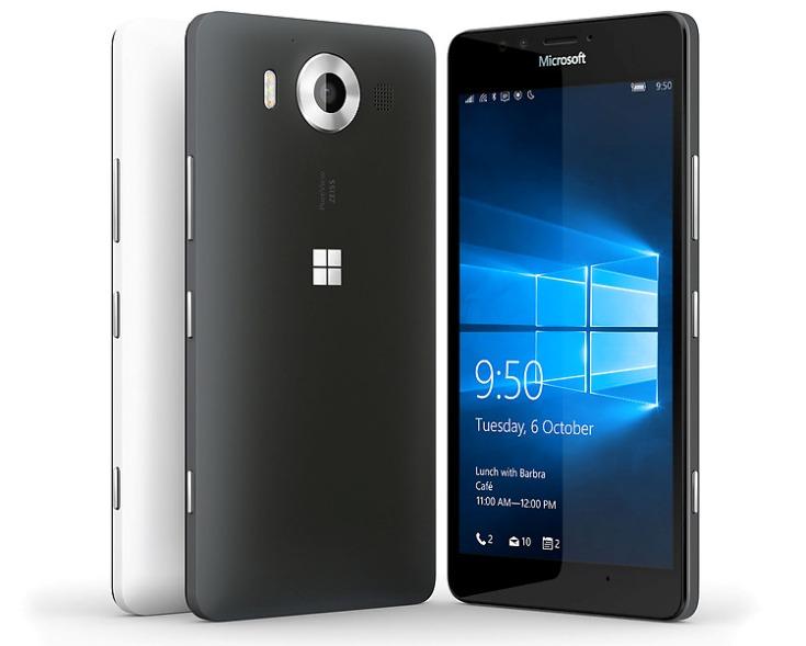 Представлены смартфоны Microsoft Lumia 950 и 950 XL