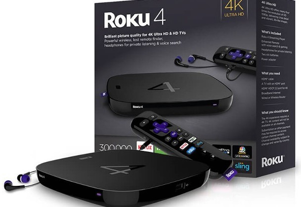 Телевизионная приставка Roku 4 стоит $130
