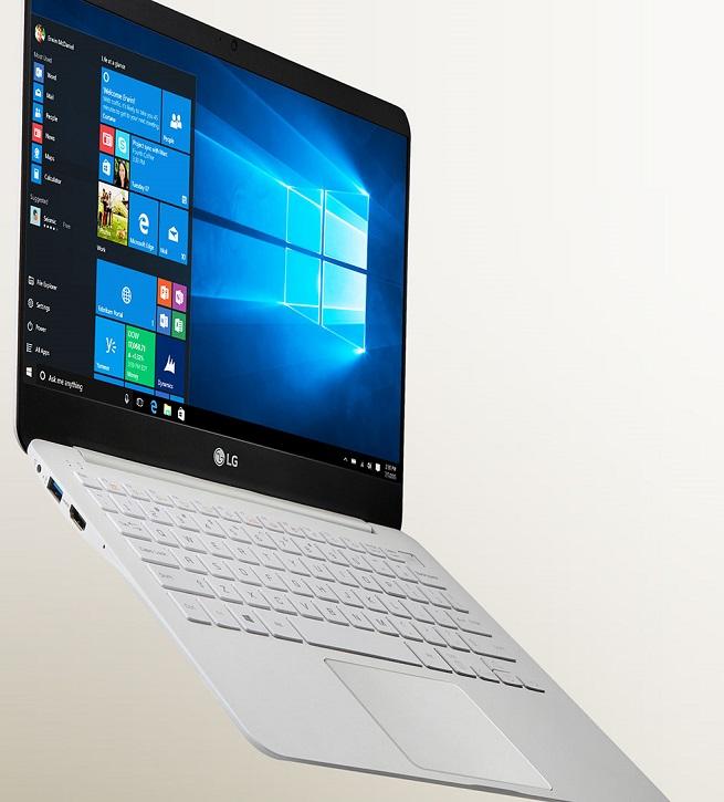 Ноутбуки LG gram оснащены экранами Full HD диагональю 14 и 13,3 дюйма
