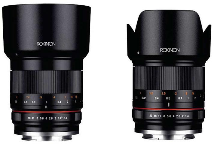 Объективы Rokinon 50mm f/1.2 и Rokinon 21mm f/1.4 выпускаются в вариантах для камер с креплениями Canon EF-M, Fujifilm X, Micro Four Thirds и Sony E