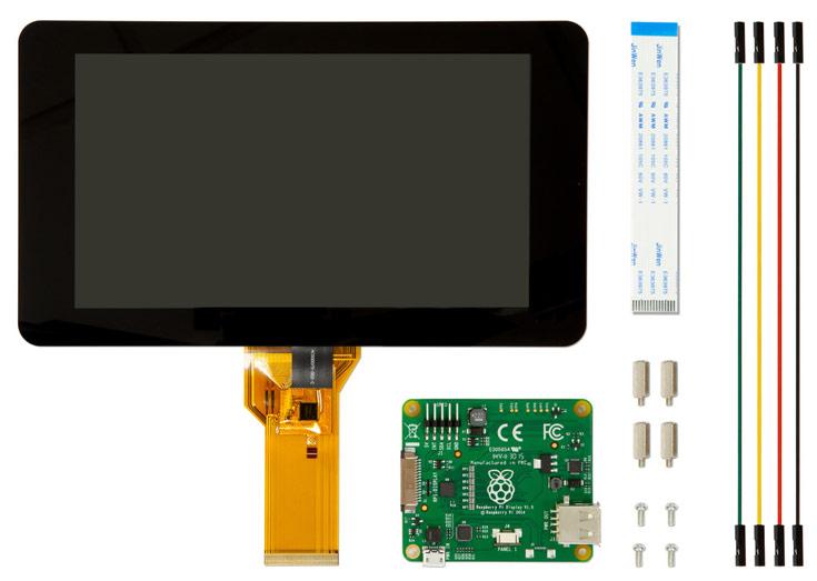 Разработчики микрокомпьютера Raspberry Pi выпустили для него жидкокристаллический экран