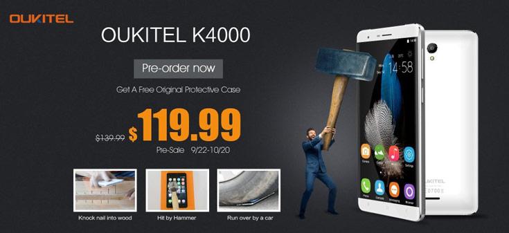 Смартфоны Oukitel K4000 доступны для предварительного заказа