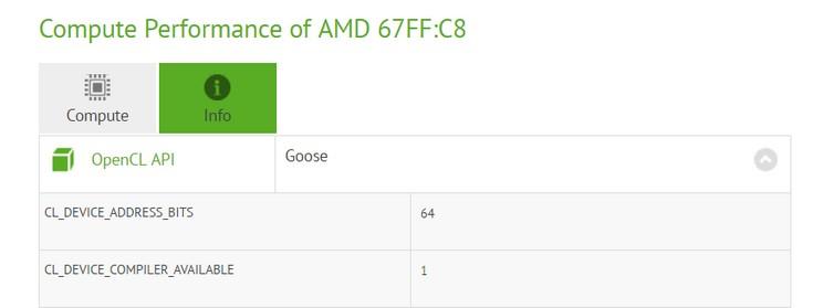 GPU Polaris 11 может получить 1024 потоковых процессора
