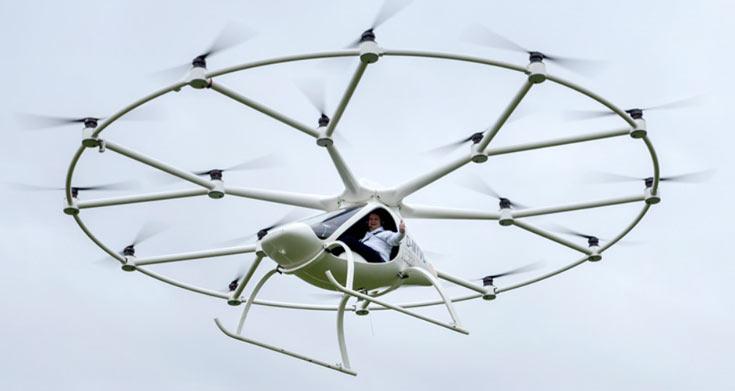 Начались пилотируемые полеты мультикоптера Volocopter VC200