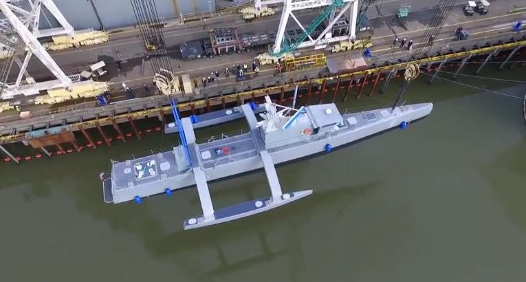 DARPA проводит испытания беспилотного корабля ACTUV, который будет охотиться за подводными лодками
