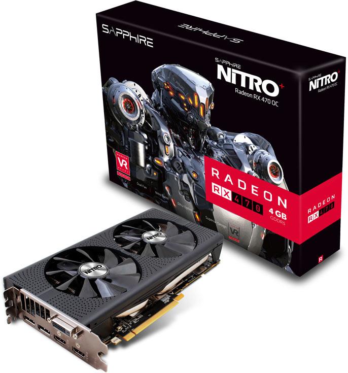 Система охлаждения 3D-карты Sapphire Nitro+ Radeon RX 470 включает два 95-миллиметровых вентилятора