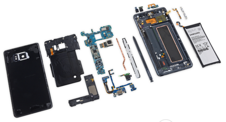 Смартфон Samsung Galaxy Note7 заработал у iFixit четыре балла