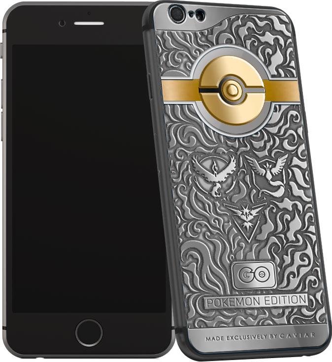 Ювелирная компания Caviar оформила смартфон Apple iPhone в стиле игры Pokemon Go