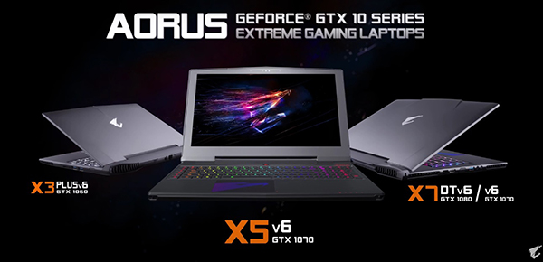 Ноутбуки Gigabyte Aorus перешли на видеокарты Nvidia GeForce GTX 10