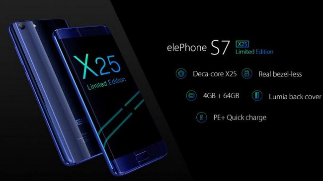 Смартфон Elephone S7 Limited Edition получит SoC Helio X25