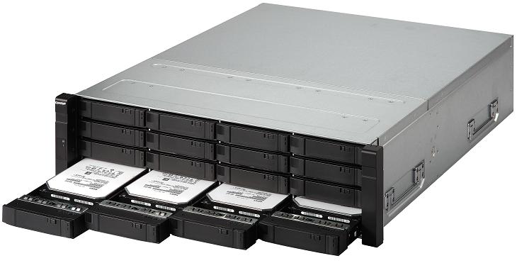 Сетевое хранилище Qnap ES1640dc v2 получило шесть портов 10Gbps Ethernet