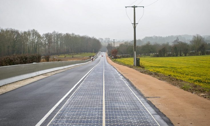 1 км дороги во Франции покрыли солнечными панелями