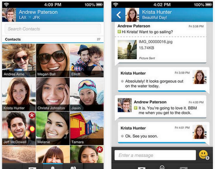 Приложение BlackBerry Messenger станет доступно для ОС Tizen