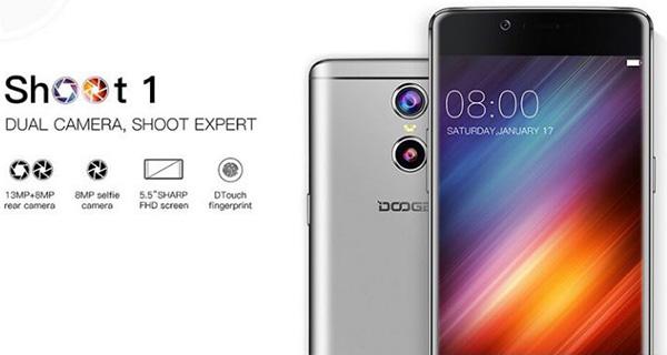 Основная камера смартфона Doogee Shoot 1 построена по принципу камеры Huawei P9