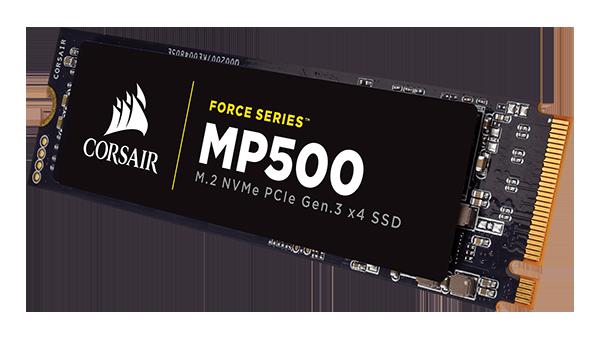Скорость последовательного чтения SSD Corsair Force MP500 достигает 3000 МБ/с
