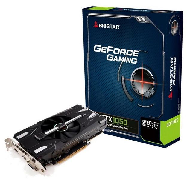 Видеокарты Biostar GeForce GTX 1050 и GTX 1050 Ti получили три вида охладителей