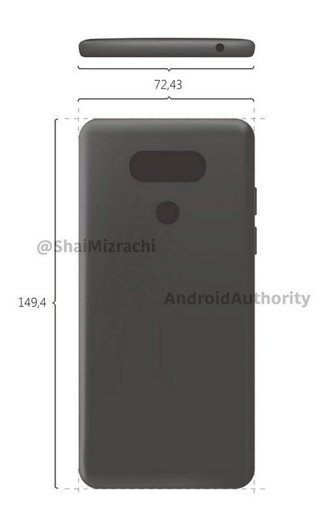 Опубликован первый эскиз смартфона LG G6