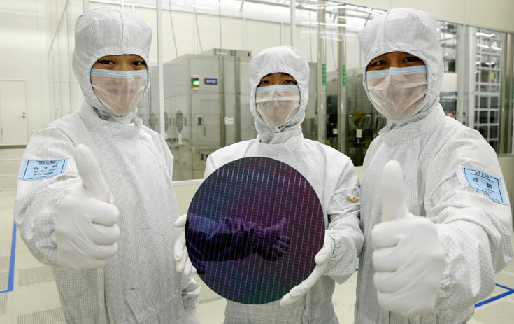 Samsung принадлежит 22% всех мощностей, выпускающих полупроводниковую продукцию с использованием 300-мм пластин
