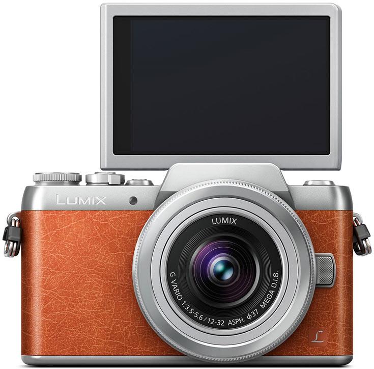 В оснащении Panasonic Lumix DMC-GF8 можно выделить подвижно закрепленный трехдюймовый сенсорный дисплей