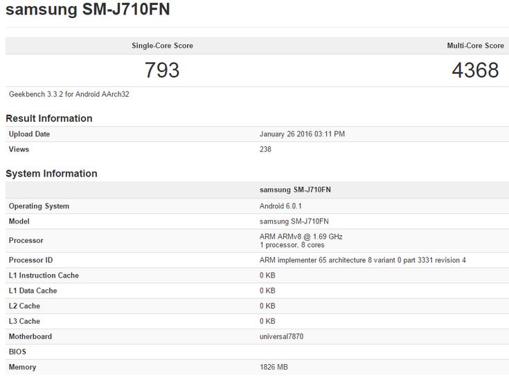 � ��������� ������� �������� Samsung Galaxy J7 ����� ������ SoC Exynos 7870