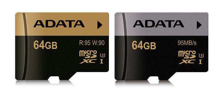 В карточках памяти Adata XPG и Premier Pro microSDHC и microSDXC UHS-I U3 используется флэш-память типа MLC NAND