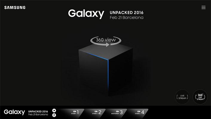 Анонс Samsung Galaxy S7 будет транслироваться с углом обзора 360°