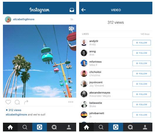 В Instagram добавят счетчик количества просмотров видеороликов