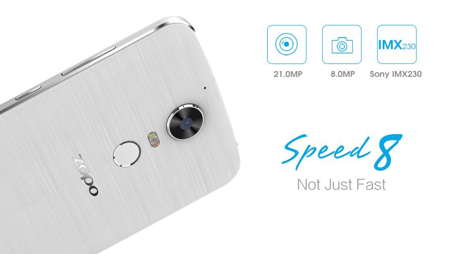 В камере смартфона Zopo Speed 8 используется датчик изображения Sony IMX230
