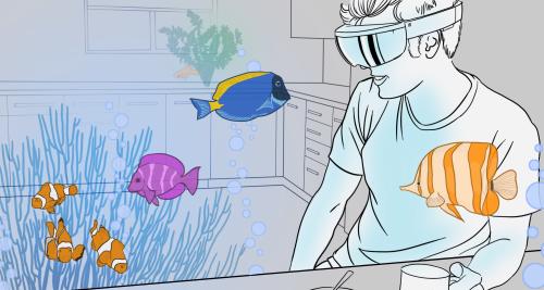 Финальные проекты для шлема HoloLens представляют собой игру, аквариум и справочник космоса