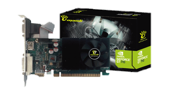 Manli представила карты GeForce GT 710
