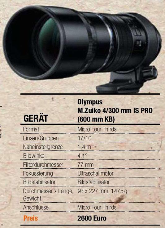 ����� �������� ����������� ������ � ���� ��������� Olympus M.Zuiko Digital ED 300mm F4 Pro