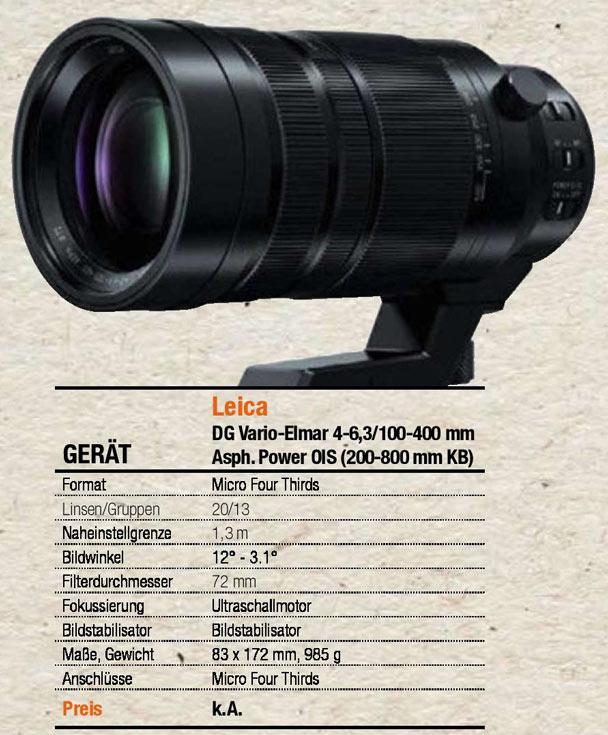 ���������� ����� ��������� Panasonic Leica DG 100-400mm / F4.0-6.3 ����� �������� 20 ��������� � 13 �������