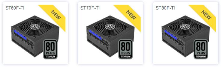 ����� SilverStone Strider Titanium �������� ������ ST60F-TI, ST70F-TI � ST80F-TI ��������� 600 ��, 700 �� � 400 �� ��������������
