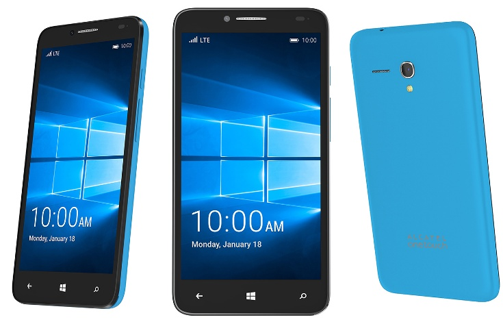 Alcatel ����������� �������� � ������� � �� Windows 10 Mobile