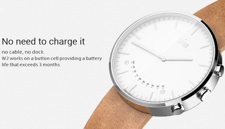 Умные часы Elephone W2 смогут работать три месяца от одной батарейки