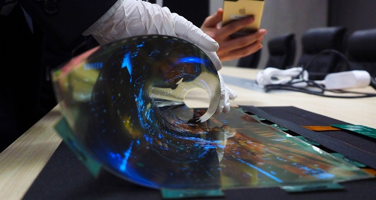 LG показала на CES 2016 панели rollable OLED