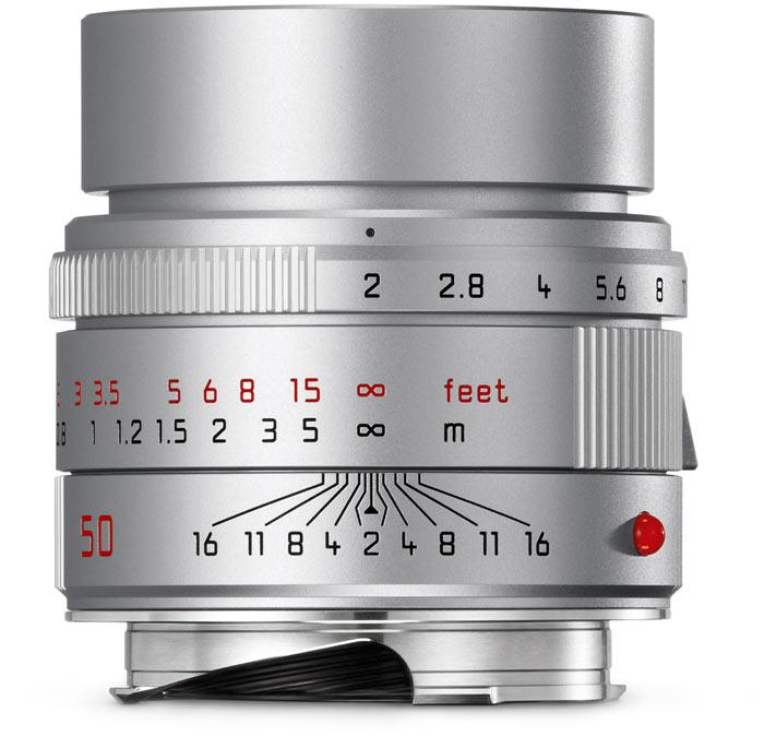 Серебристый объектив Leica APO-Summicron-M 50mm f/2 ASPH на $200 дороже черного