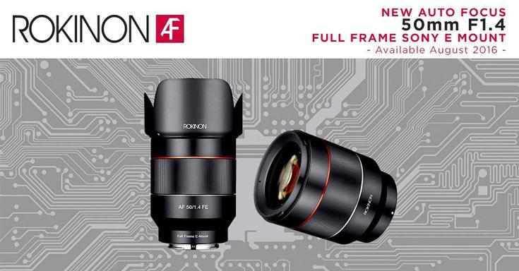 Начат прием заказов на объектив Rokinon AF 50mm F/1.4 FE с креплением Sony E