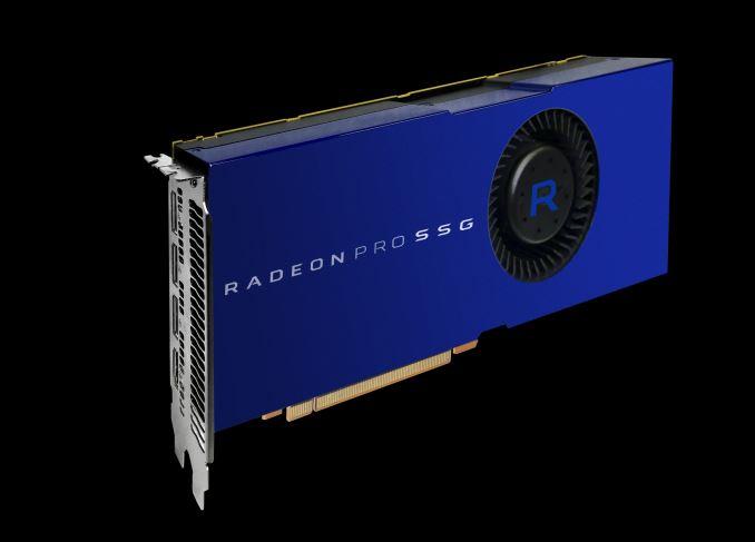 Производитель показал образец Radeon Pro SSG с двумя накопителями Samsung 950 Pro объемом по 512 ГБ каждый