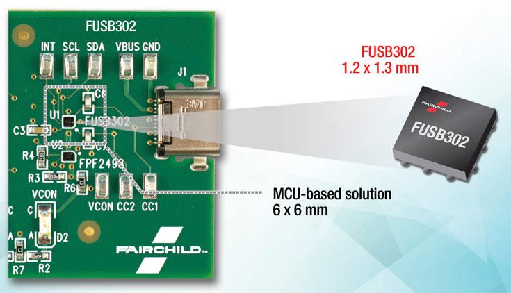 Контроллеры Fairchild FUSB302 соответствуют требованиям новейших спецификаций USB-C