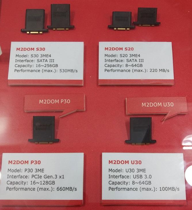 Накопители Innodisk M2DOM разделены на несколько семейств, в разы отличающихся производительностью