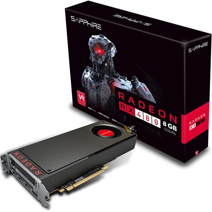 Основой Radeon RX 480 служит графический процессор Polaris 10 XT