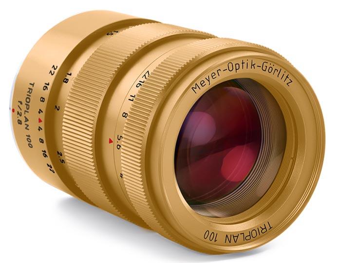 Позолоченных объективов Trioplan f2.8/100 Golden Eye выпущено всего десять штук