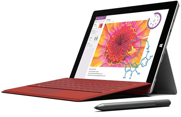 ���� ����������� ����� �������� Microsoft Surface 3 �������� � �����